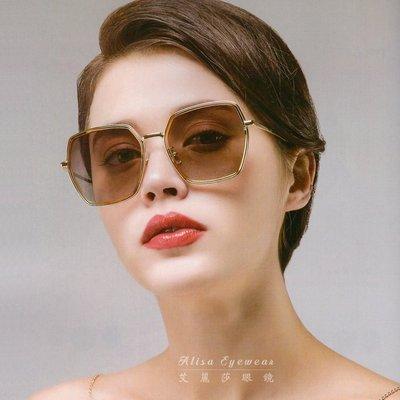 【艾麗莎】女士偏光太陽眼鏡 抗UV400日本精品PC方形金屬框墨鏡 限量特價新款經典復古外型明星時尚潮流風格15304