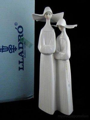 ❃A&EJ Studio❃西班牙 LLADRO 修女大型瓷偶 高34cm #4611【一級品】