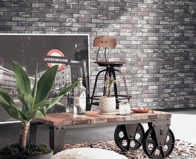 【Uluru】日本進口 黑磚 灰磚 文化石 壁紙 日本製 工業風格  | 系統櫃設計 | 室內規劃