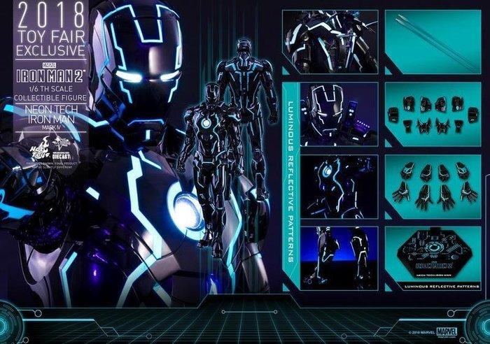 HOT TOYS 鋼鐵人 MK4 霓虹科技 MMS485 2018會場限定 馬克4 Mark4 合金 創戰光速藍 藍創