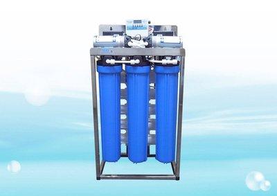 【水易購淨水網】商用全自動水質偵測不鏽鋼腳架型逆滲透RO機 754PS型 (造水量480~600加崙/天)