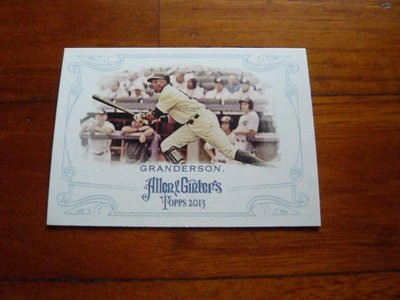 強打外野手CURTIS GRANDERSON畫卡一張~10元起標