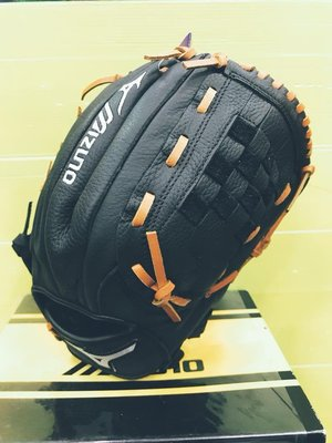 MIZUNO美津濃 少年/兒童 PROSPECT 棒球手套 全封檔 右投 312569 黑/咖啡 現貨