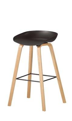 【生活家傢俱】CM-1043-8:伊絲黑色吧台椅【台中1900送到家】高腳椅 餐椅 休閒椅 PP坐墊+實木腳 北歐風