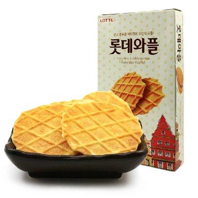 #悠西將# {現貨} 韓國 樂天LOTTE 鬆餅 瓦夫 奶油鬆餅 酥脆餅乾 窩夫 奶油 奶香 格子鬆餅 鬆餅餅乾