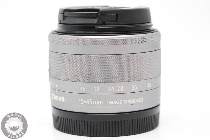 【高雄青蘋果3C】Canon EF-M 15-45mm f3.5-6.3 IS STM 銀 二手鏡頭 #52609