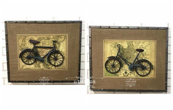 ~*歐室精品傢飾館*~美式鄉村 復古 loft 工業 麻布 掛畫 掛圖 腳踏車 三輪車 壁飾 牆面 布置 ~新款上市~