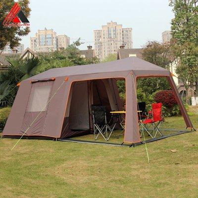 露營 雙層 二房一廳帳篷 8~10人多人帳篷 客廳帳+內帳+外帳 防雨大帳棚 2房1廳 5x3公尺 多變化 防蚊蟲紗網