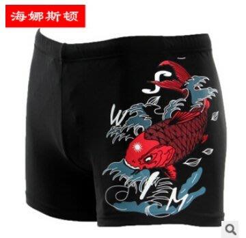 APPLE JUICY【ZS-161】MAN HNSD 數位印花流行款游泳褲 M L 號