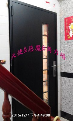 大門 外玄關門 鍛造門 外門  鍛造玻璃大門_客戶訂製 客製化依照買家需求訂製