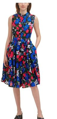 Calvin Klein Floral-Print Midi Shirtdress