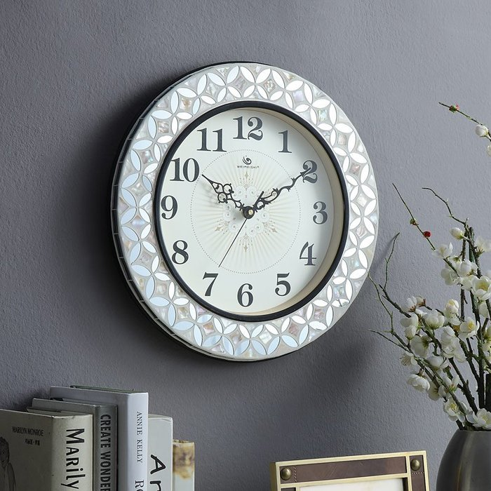 歐式大號靜音掛鐘客廳臥室床頭掛表現代時尚創意鐘表
