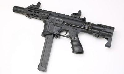 台南 武星級 SRC FALCON-ZS 9mm M4 衝鋒槍 電動槍 (BB槍M16MP5狙擊槍UZI衝鋒槍M4卡賓槍