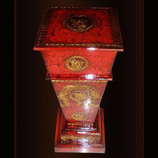 5Cgo【宅神】含稅會員有優惠 9249328344 歐式羅馬柱手彩高級木柱 歐式家居工藝品軟裝飾品擺設擺件花盆柱臥室