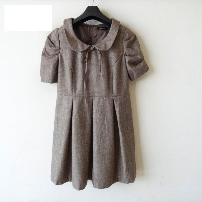全新❤╮專櫃PS COMPANY 貴妃領 羊毛連身洋裝