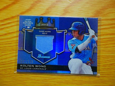 Kolten Wong 2012 Bowman Future Game Relic 新人 球衣卡 限199