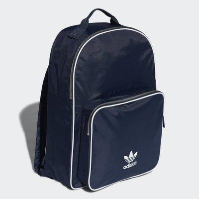 # Adidas Originals BACKPACK MINI 深藍 藍白 三葉草 後背包 書包 CW0633 YTS