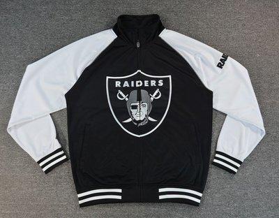Cover Taiwan 官方直營 Raiders NFL 突擊者 健身 夾克外套 嘻哈 黑色 白色 大尺碼 (預購)