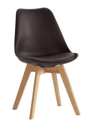 【風禾家具】FQM-1069-7@VN黑色皮餐椅【台中1200送到家】書椅 耐衝擊PP材質 實木腳座 北歐風 傢俱