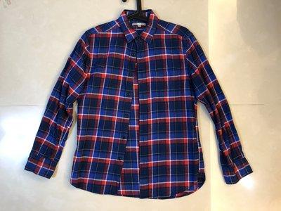 ︱Coopers︱日本 Uniqlo Flannel 紅藍黑格紋法蘭絨襯衫 Size: S