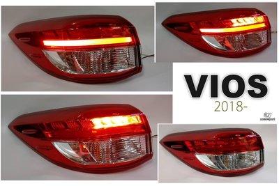 》傑暘國際車身部品《全新 TOYOTA VIOS 18 19 20 2020年 原廠型 LED光條 紅白 外側 尾燈