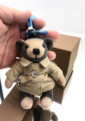 🎉新品抵台🎁全新真品Burberry 80271681 Trench 風衣造型 Thomas 喀什米爾 泰迪熊吊飾