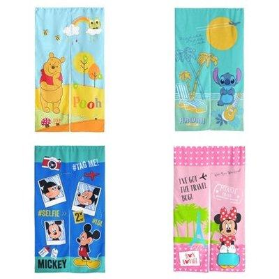【Disney 迪士尼】米奇/米妮/維尼/史迪奇 長門簾(150x85cm)