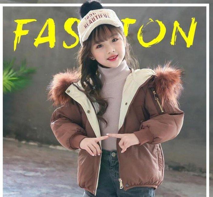 女童冬裝外套正韓2018新款兒童棉衣中大童洋氣加厚棉服小女孩短版
