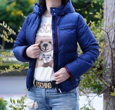 Gucci 027510 Down Jacket 羽絨外套 深藍 配 紅黑拉鍊 現貨
