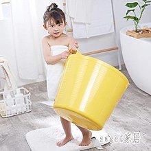 (全館免運)浴桶 大號兒童洗澡桶加厚塑料寶寶沐  Color Bridge