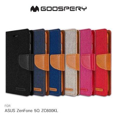 --庫米--GOOSPERY ASUS ZenFone 5Q ZC600KL 網布皮套 磁扣 可插卡 保護套