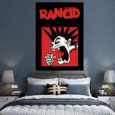 掛畫 居家生活來圖定制 Rancid 英美流行搖滾樂隊 沙灘巾酒吧餐廳墻飾背景掛布台北百貨