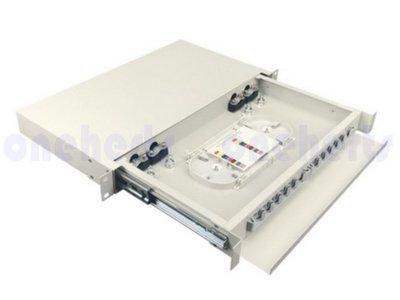 現貨 加厚19英吋抽屜式光纖終端盒通盒 12口 12路 支援 SC LC ST FC耦合器 機櫃式 光纖設備熔接