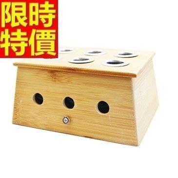 艾草針灸盒 艾灸器具-六孔竹製艾灸盒祛寒溫灸盒多功能65j22[獨家進口][米蘭精品]