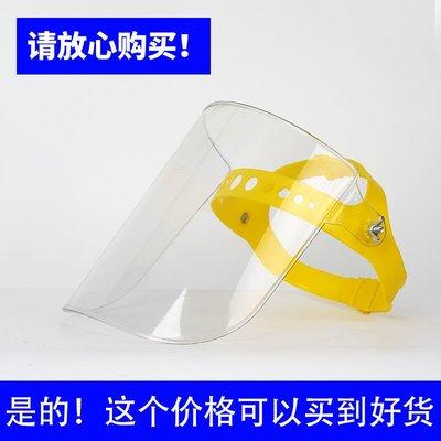 (台灣)【】防護面罩透明全臉頭戴式切割打磨電焊焊工廚房炒菜做飯(匠匠)