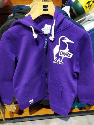 CHUMS Booby Zip Parka 兜帽休閒外套 紫色