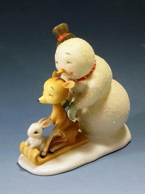 可愛雪人白瓷塑像:聖誕節 雪人 陶瓷 塑像 居家 家飾 擺飾 設計 收藏 禮品 雜貨