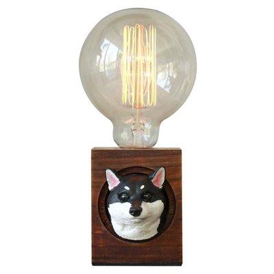 【曙muse】松木柴犬桌燈   造型桌燈 客製化 質感 送禮 交換禮物 居家小物 室內擺飾 動物造型 寵物造型  原木