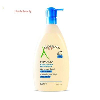 A-DERMA 艾芙美 燕麥新葉寶貝洗髮沐浴精 500ML (公司貨中文標)2021/04到期