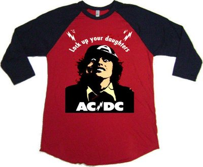 ACDC Look Up 進口七分袖樂團T/Rock/Ameircan Apparel/Hanes