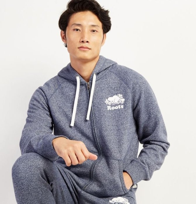 ~☆.•°莎莎~*~☆~~加拿大ROOTS ORIGINAL FULL ZIP HOODY 連帽外套~