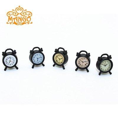 雜貨小鋪 12分娃娃屋dollhouse迷你靜態模型玩具 多款金屬座鐘小鬧鐘 精美