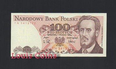 【Louis Coins】B236-POLAND--1975-1988波蘭紙幣100 Złotych