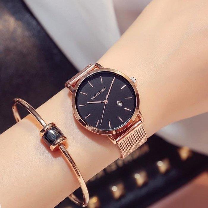 半島鐵盒 2019新款別樣女士手錶防水時尚潮流學生簡約超薄大氣石英女錶