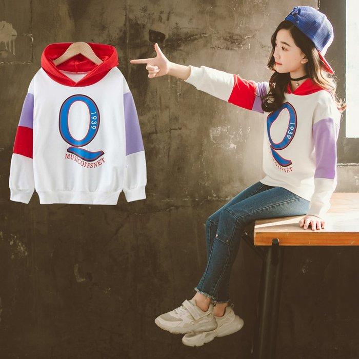 『媽咪貝貝』女童春裝洋氣衛衣2019春季新款韓版中大兒童時髦衣服女孩時尚上衣