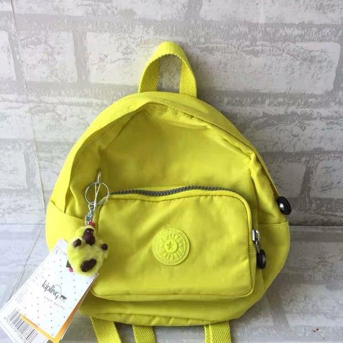 Kipling 猴子包 mini 12673 檸檬黃 多用肩背斜背輕量雙肩後背包 小號 防水 限時優惠