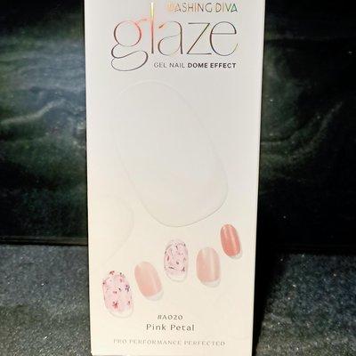 全新正品 Dashing DIVA 新品Glaze半烤美甲片 #A020 Pink Petal