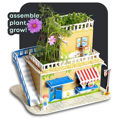 Build a Flower Shop and Grow Real Cosmos & Violet Flowers