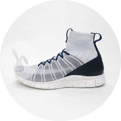 [RabbitFoot] Nike Free Flyknit Mercurial 男鞋 灰深藍 805554-001