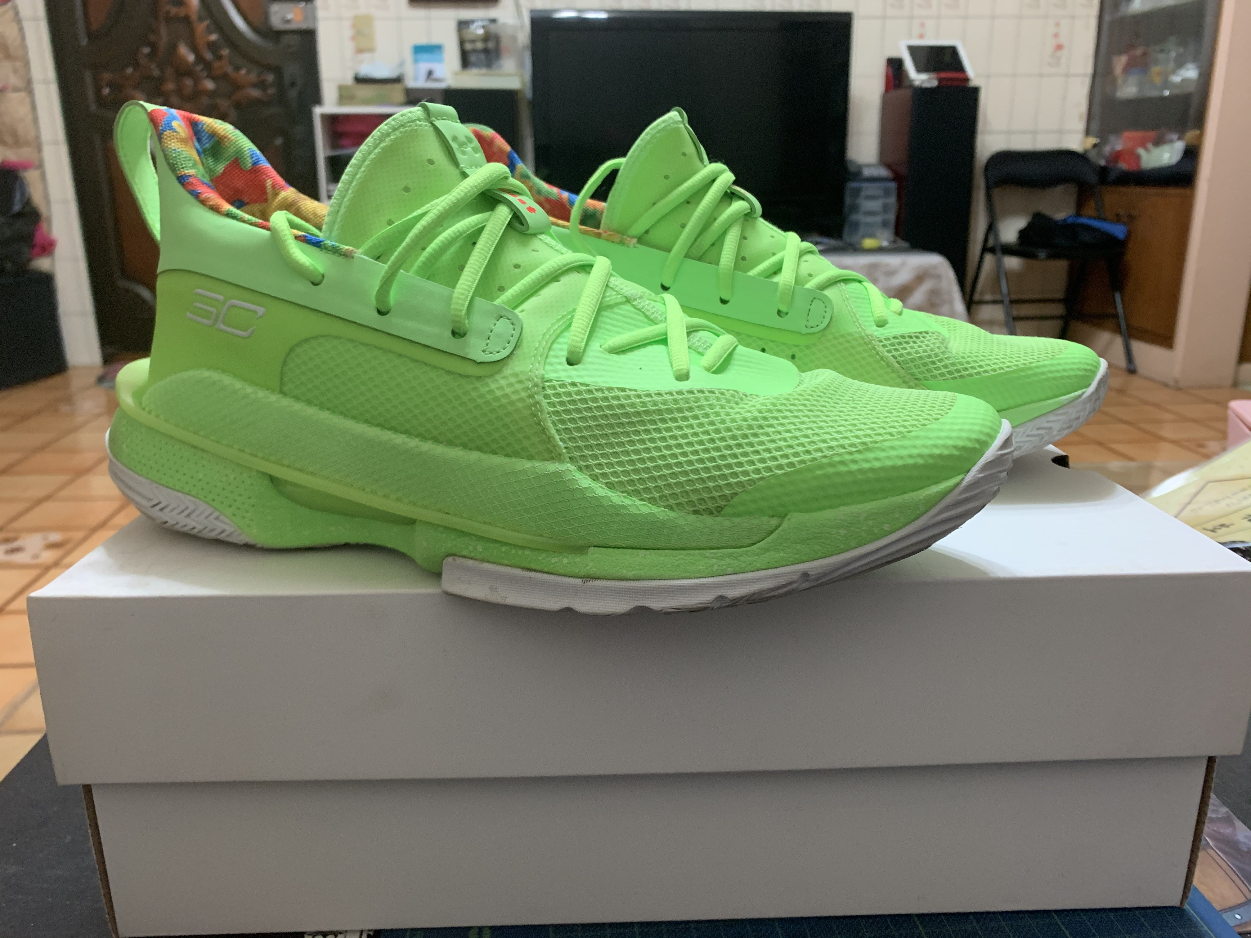 Under Armour CURRY 7 Sour Patch Kids 螢光綠 柯瑞 3021258-302